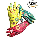 PROMEDIX Gardening Gloves Garden Gloves Women Medium Size & 3 Pairs, Work Gloves, Super Light Weight, Breathable Gloves