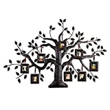 Cheap Joveco Brown Black Decorative Collage Family Birds Tree Bronze Iron Metal Wall Hanging Collage Picture Photo Frame, 8-Opening, 2×2.5