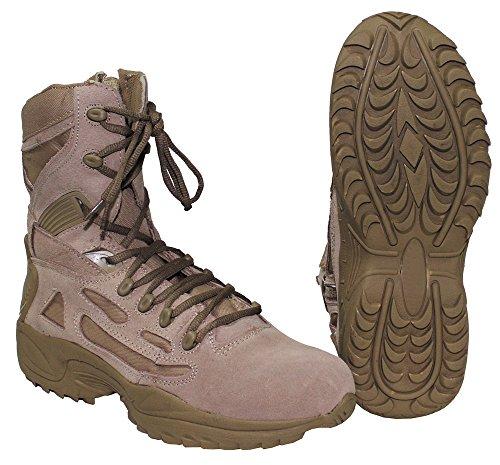 bottes, 'Tactical', fourrés, cuir, coyote tan, Taille:8