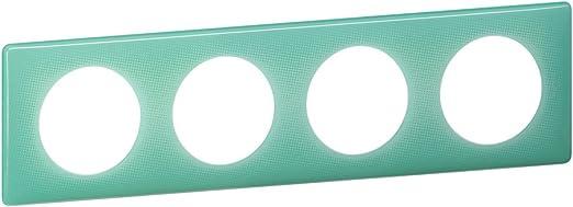 Turquoise Legrand 066644 C/éliane Plaque de finition 50s 4 Postes