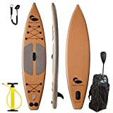 Paddle North | 11'6 Inflatable SUP Paddle Board - Includes adjustable 3-pc paddle, carry bag with wheels, coil ankle leash, dual action pump and fin.
