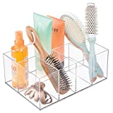 iDesign InterDesign Organizer for Vanity Cabinet to Hold Makeup Beauty Products Hair Accessories – 5 Compartments, Clear Clarity Cosmetic, 5 Section