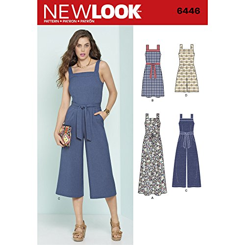 - New Look Patterns Misses' Jumpsuits and Dresses A (6-8-10-12-14-16-18) 6446