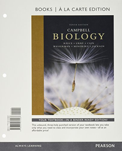 A Campbell Biology, Books a la Carte Edition;  Mastering Biology with Pearson eText -- ValuePack Access Card -- for Campbell Biology; Short Guide to Writing About Biology (10th Edition)