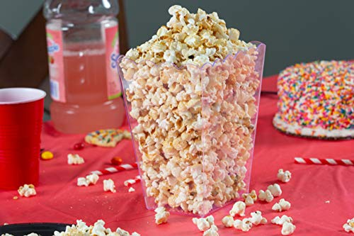 Plastic Popcorn Containers Clear Reusable Popcor Tableware, Serving & Linen