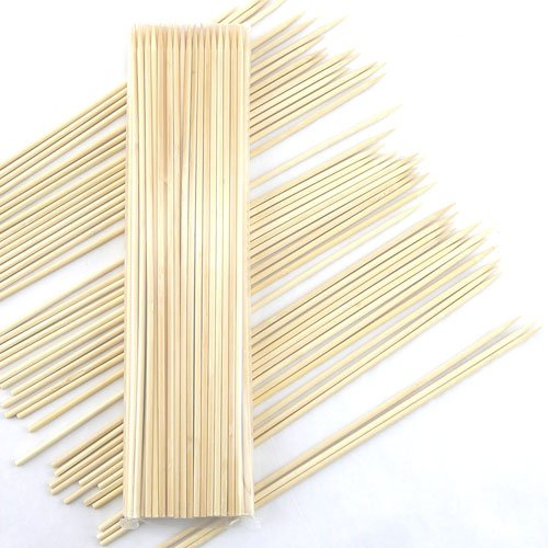 BambooMN Brand - 24'' (61cm/2ft) Long x 5mm Thick Sharp Point Bamboo Kabab Skewers - 1,000pcs by BambooMN