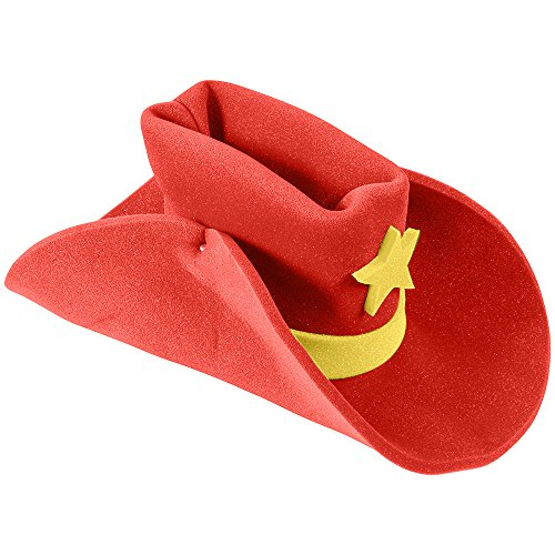 [Huge Funny and Crazy Red Cowboy Hat Super Size Cowgirl Hats Funny Party Hats] (Child Red Cowboy Hat)