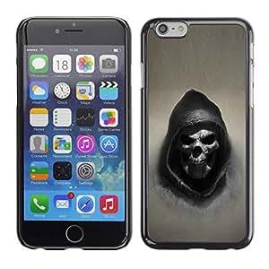 Design for Girls Plastic Cover Case FOR Apple Iphone 6 Plus 5.5 Grim Reaper Skull Goth Death OBBA