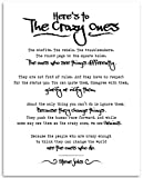 Here's To The Crazy Ones - Steve Jobs - 11x14 Unframed Typography Print - Great Inspirational Gift Under $15
