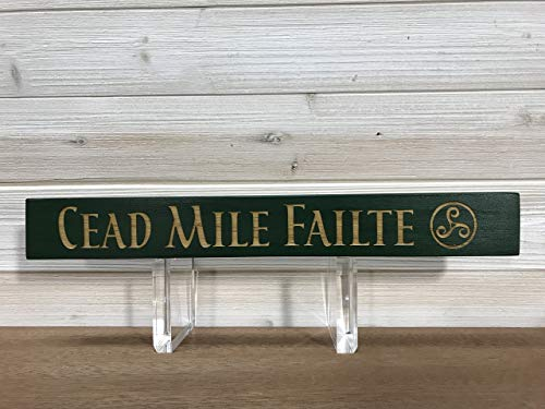 Cead Mile Failte Plaque - CEAD MILE FAILTE Wall Plaque Laser