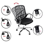 GreenForest Office Chair for Computer Desk Mesh Mid-Back Swivel Task Chair with Special Design Back,Black