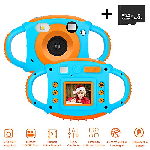 DIWUER Kids Camera, Children Mini Video Camcorder, 1.77
