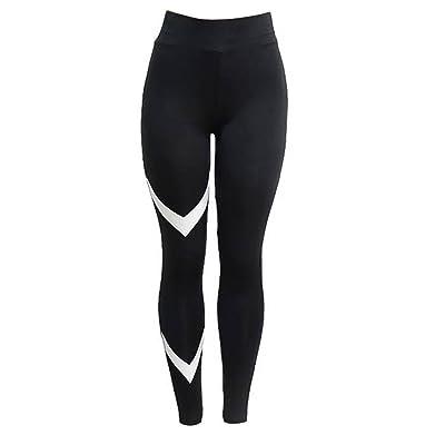 Fastar Pantalon de sport pour femme Yoga Leggings Taille haute extérieur Fitness Workout Pantalon Noir