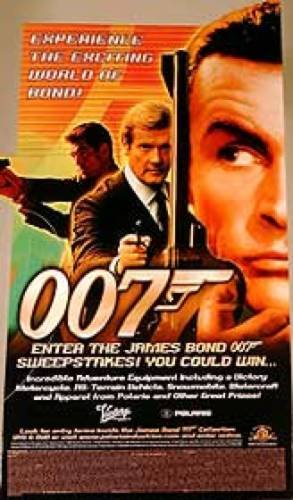 James Bond 007 Video Standee 17X10 Rare Promo Standee Sean Connery Roger Moore Pierce Brosnan Poster from Silverscreen
