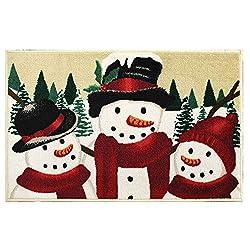 St. Nicholas Square Christmas Snowmen Rug - 23 x 36