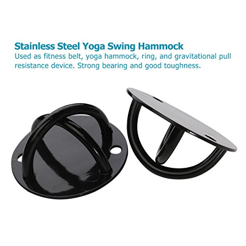 WINOMO 2pcs Ceiling Wall Mount Anchor for Suspension Strap Strength Training Gym Yoga Bracket Olympic Rings Swing Hammock