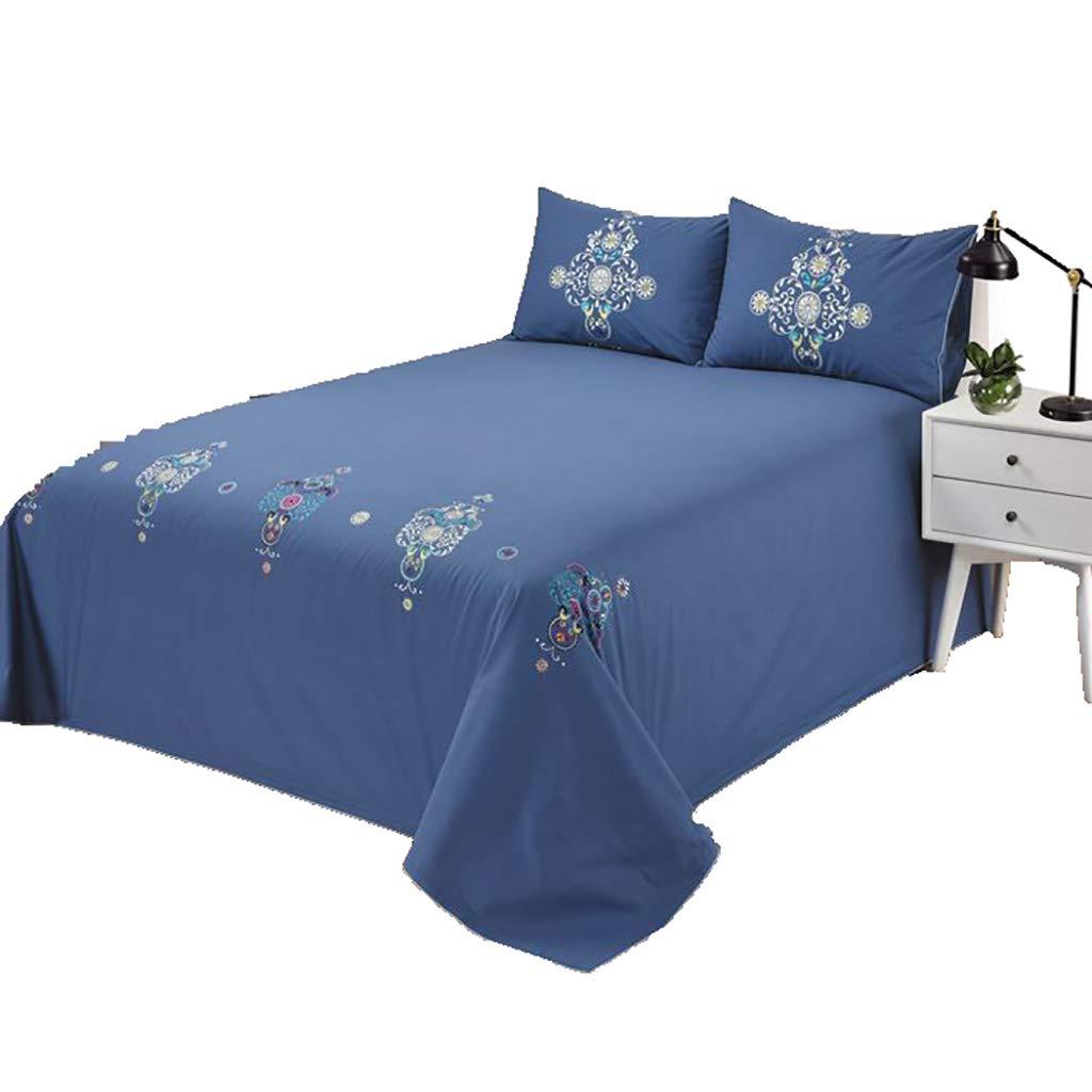 寝具カバーセット 3枚セットベッドシーツベッドカバーピローケースクッションカバー布団カバーギフトベッドセット寝室ベッドルームホテルファミリー (色 : 青, サイズ さいず : 210*240cm sheets) 210*240cm sheets 青 B07MPXTJ1G