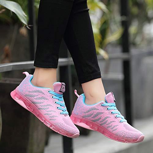 Cojines con Volar de 35 de para Net Azul de Mujer Estudiante Tejidos Logobeing Deporte Sneakers de 41 Running Calzado Gimnasia Zapatos Zapatillas Aire Deportivas Zapatillas qOCwnxIA