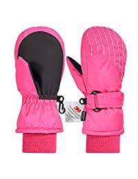 Andake Kids Ski Mittens, Waterproof & Windproof Mittens, Great for 2-7 Years Old Kids