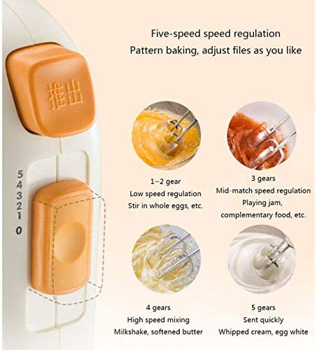 HUA JIE Batteur à Oeufs électrique Portable, Petit mélangeur crème Main, Cuisine Maison Fouet, utilisé pour la Cuisson et la crème des gâteaux Batteur à Oeufs