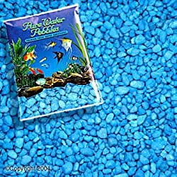 Fish & Aquatic Supplies Color Gravel 5Lb - Neon Blue (10Pc)