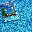 Pure Water Pebbles Aquarium Gravel, 25-Pound, Neon Blue