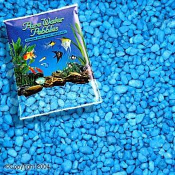 Neon Pebble - Pure Water Pebbles Aquarium Gravel, 25-Pound, Neon Blue