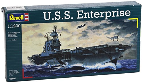 (Revell of Germany 1/1200 USS Enterprise)