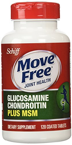Schiff Move Free Joint Health Dietary Supplement Glucosamine Chondroitin Plus MSM Coated Tablets, 120 Count