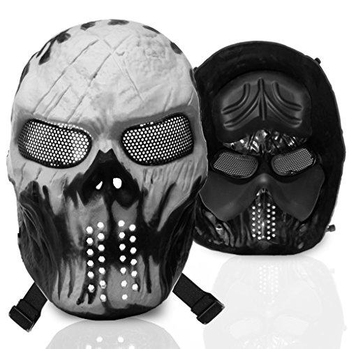 [Stargoods Skeleton AirSoft Mask - Metal Mesh Paintball, BB Gun & CS Games - Ghost] (Custom Snake Eyes Costumes)