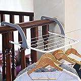 Whitelotous Folding Indoor Drying Rack Towel Dryer Rack Shelf Radiator Hanger Balcony Organizer