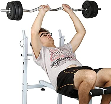 TnP Barbell Set Triceps Curl Bar Weight Plate Weightlifting Training 25kg