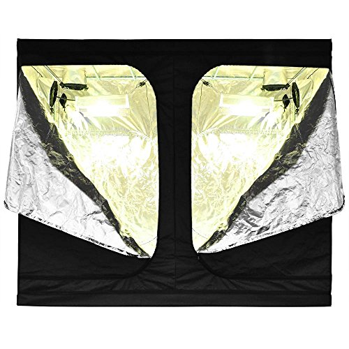 "51LdcI2lhLL - LAGarden 96x48x78"" Hydroponics Grow Tent 100% Reflective Diamond Mylar Indoor Plant Growing Non Toxic Room w/ Window"