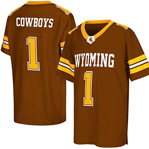 quality design 4ec91 629cd NCAA Mens Colosseum Brown Wyoming Cowboys #1 College ...