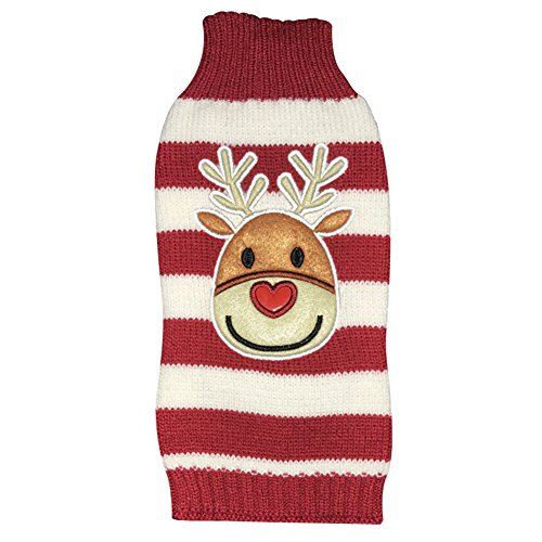 NACOCO Dog Reindeer Sweaters Dog Sweaters New Year Christmas Pet Clothes for Small Dog and Cat (Small) Image