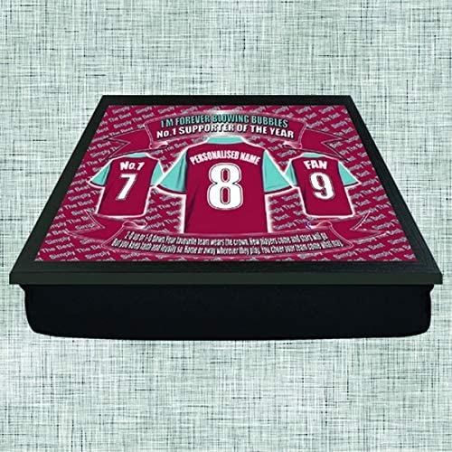 West Ham Football Shirt Personalised Lap Tray Gift