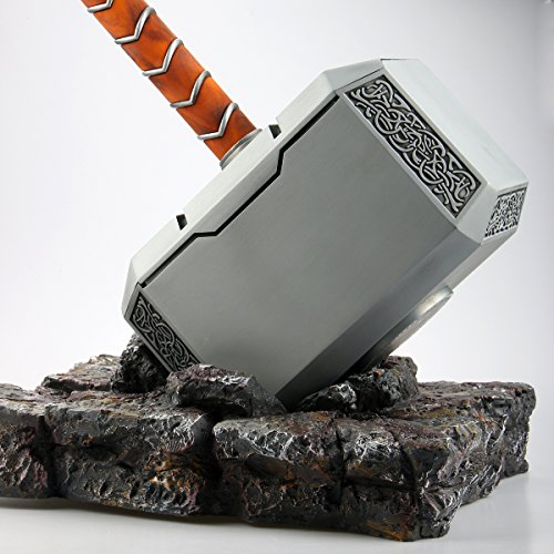 Gmasking 2017 Metal Mjolnir Thor Solid Adult Hammer Collectible 1:1 Replica (Thor Hammer Replica)