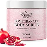 Product review for Pomegranate Body Scrub - Daily Exfoliating Treatment to Brighten Skin - Anti-Aging, Anti-Microbial and Anti-Inflammatory Properties - For Varicose and Spider Veins and More - By Venu