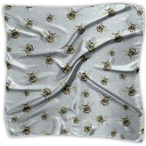 (Polyester Lady's Handkerchief Scarf Women¡¯s Bumble Bee Pattern Square Satin Headscarf)