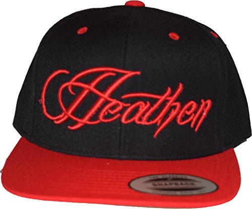 (Heathen Script Fitted Hat (Red/Black/Red, 7 1/4-7 5/8))