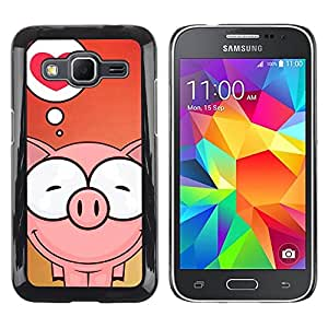 Impact Case Cover with Art Pattern Designs FOR Samsung Galaxy Core Prime Cute Pig Love Betty shop