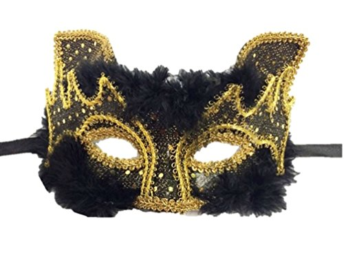 Masquerade Party Cat Style Party Mask in Black Color By H-m Shop