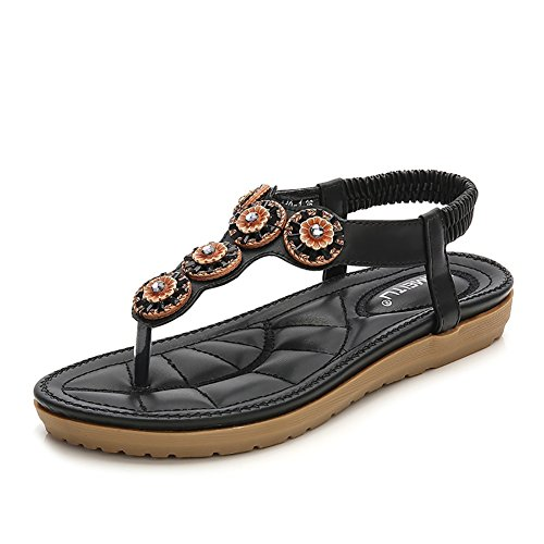 d9d8e8dbce320a Meeshine Womens T-Strap Open Toe Sparkle Flip-Flops Summer Dress Flat  Sandals Shoes