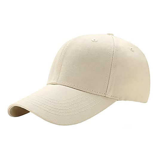 73d0ac31 Glamorstar Classic Unisex Baseball Hats Cotton Ball Cap Trucker Hat Beige