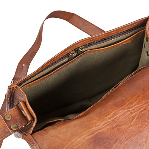 81stgeneration Genuine Vintage Satchel Shoulder Bag College Work City Casual Everyday Messenger Bag 01sblbg002