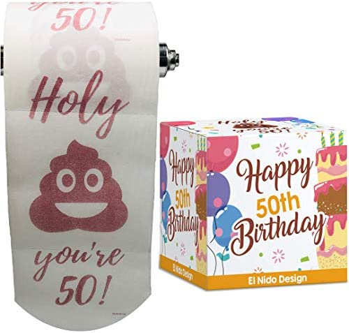 Amazon Com 50th Birthday Toilet Paper Happy Birthday Toilet Paper Prank Funny 50th Birthday Gifts For Men And Women Best Friend Birthday Gifts Novelty Toilet Paper Roll Gag Gifts 3 Ply