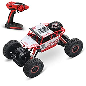1/18 Rock Crawler RC Truck 2.4 GHz Radio Remote Control Truck Car | Double Powerful Motors With Articulated Front And Rear Suspension RC Car Toy Great Fift By TES Toys