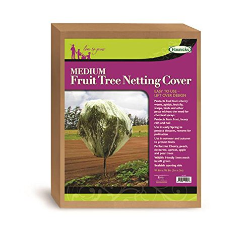 Tierra Garden 50-3540 Haxnicks 9.8' x 9.8' Fruit Tree Cover, Easy to Use, Cover and Protect Plants from Harsh Weather, Animals, and Pests (Fruit Uk Patio Plants)