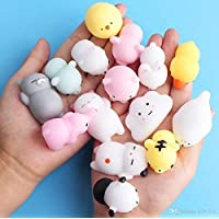 TOYBOY Squishy Cat Toys Mochi Squeeze Stress Reliever for Kids/Adults - Set of 8