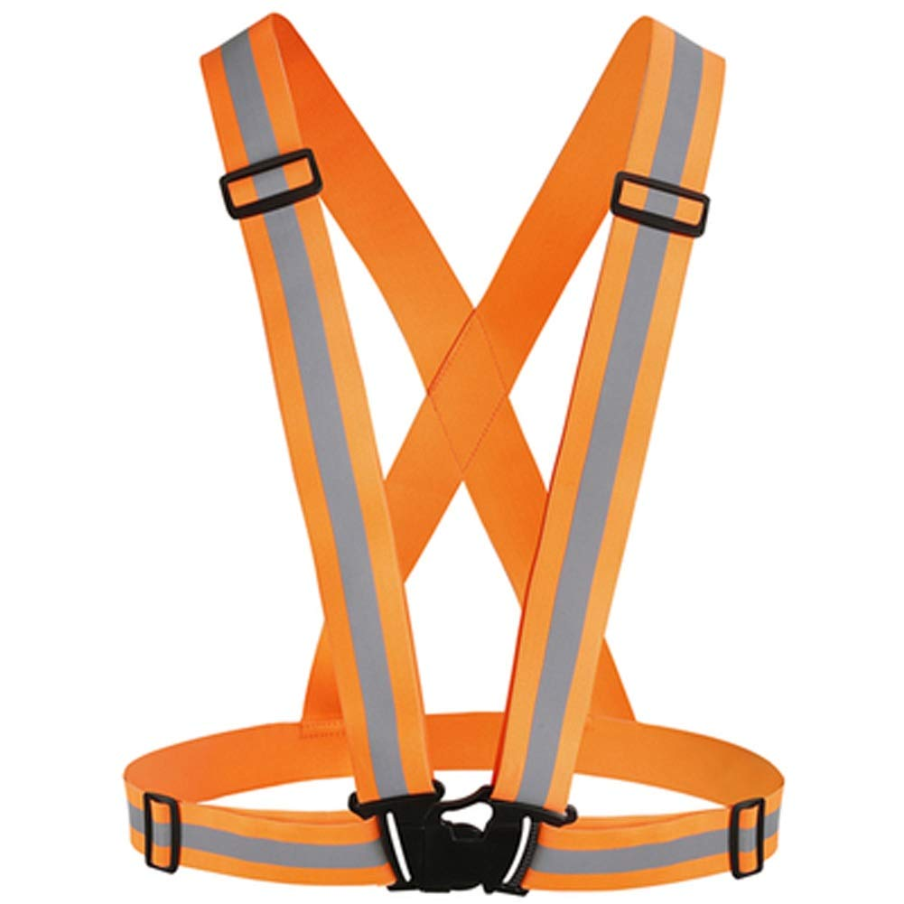 RYYAIYL High Visibility Reflective Vest - Safety Reflector Strips Bands - Reflective Running Gear for Men and Women for Night Running, Biking, Walking (Color : Orange)